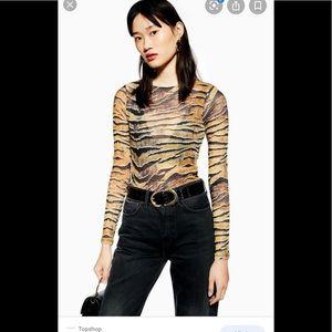 Topshop tiger print bodysuit